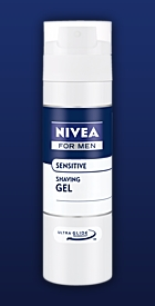 NIVEA Gel na holení Sensitive 200 ml